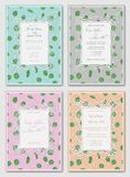 Wedding floral watercolor style double invite, invitation, save vector illustration
