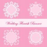 Wedding Flourish Banner Royalty Free Stock Image
