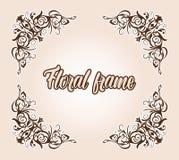 Wedding Flourish Frame Border Corner.Invtation card design. Flourish Frame Border Corner.Vector Wedding Invitation Card Elements.Victorian Grunge Calligraphic royalty free illustration