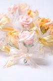 Wedding flower. Beautiful wedding flower decoration for guests Royalty Free Stock Photos