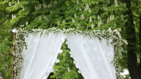 Wedding Flower Arch Decoration in the park stock video