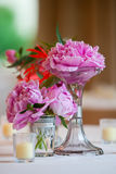 Wedding Flower Arrangement Table Setting Series Royalty Free Stock Photo