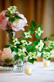 Wedding Flower Arrangement Table Setting Series Stock Image