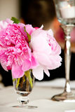 Wedding Flower Arrangement Table Setting Series Stock Photos