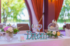 Wedding flower arrangements Royalty Free Stock Photos