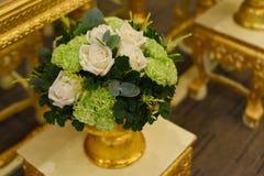 Wedding flower. A beatiful wedding flower white and green Stock Photo