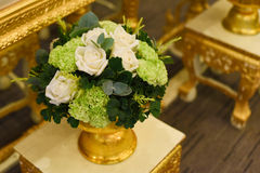 Wedding flower. A beatiful wedding flower white and green Stock Images