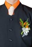 Wedding Flower Boutonniere Stock Image