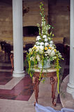Wedding flower composition floor Stock Images