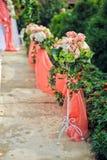 Wedding flower composition floor Stock Photography