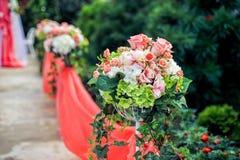 Wedding flower composition floor Royalty Free Stock Photo