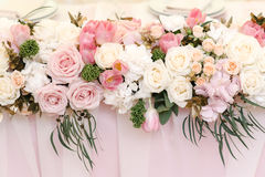 Free Wedding Flower Decor Of Roses And Peonies, Closeup Stock Photo - 93300760