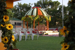 Wedding Flower Decoration. Wedding ceremony place with flower decoration Stock Images