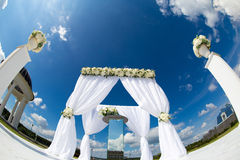 Wedding flower decoration Royalty Free Stock Images