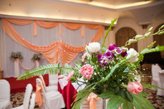 Wedding Flower Decoration indoor Stock Photos