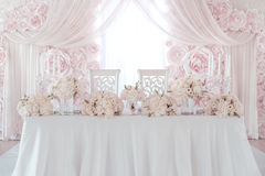 Wedding flower decoration Stock Photos