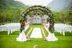 Wedding flower door Royalty Free Stock Image