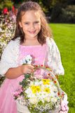 Wedding - Flower Girl. In a beautiful rosa dress stock photos