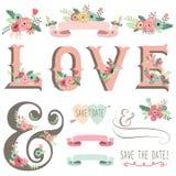 Wedding Flower Love Design Elements Stock Photo