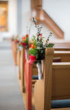 Wedding flower pew Stock Photography