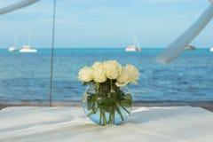 Wedding flower setting Royalty Free Stock Image