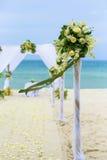 Wedding flower setting Stock Photo
