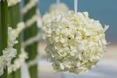Wedding flower setting. On the beach Stock Photos