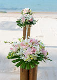 Wedding flower setting Royalty Free Stock Photos