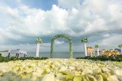 Wedding flower setting Royalty Free Stock Photography