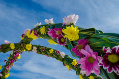Wedding flower setup at Maldives Stock Photo