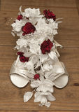 Wedding flower and shoe Royalty Free Stock Images