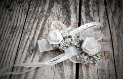 Wedding flower on table. Retro look Royalty Free Stock Photography
