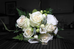 Wedding flowers. In closeup. Background is set to gray scale Stock Photo