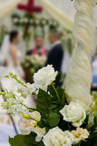 Wedding flowers. Picture of beautiful white wedding flowers Royalty Free Stock Image