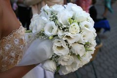 Wedding flowers. Bridal bouquet with white roses Royalty Free Stock Image