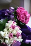 Wedding flowers. White and pink wedding flowers bouquet Stock Photography