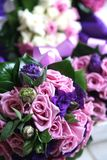 Wedding flowers. White and pink wedding flowers bouquet Royalty Free Stock Images