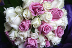 Wedding flowers. White and pink wedding flowers bouquet Stock Photos