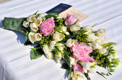 Wedding flowers. In different colours - copy space Royalty Free Stock Photography