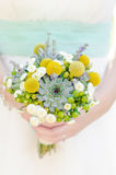 Wedding flowers. Wedding flower in the bride's hand royalty free stock photography