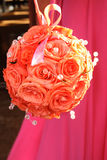 Wedding Flowers. Wedding Bouquet as an orange rose ball stock photo