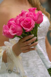 Wedding flowers. Bride holding her wedding flowers Stock Images