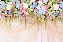 Wedding flowers background