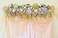 Wedding  flowers background Royalty Free Stock Images