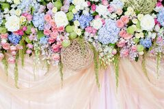 Wedding  flowers background Royalty Free Stock Photos