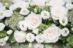 Wedding flowers background, decoration. Marriage. Wedding flowers background, decoration. Indoor Royalty Free Stock Images