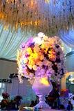 Wedding flowers background design stage Stock Image