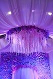 Wedding flowers background design stage Royalty Free Stock Photo