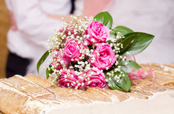 Wedding flowers of beautiful pink flowers Royalty Free Stock Image