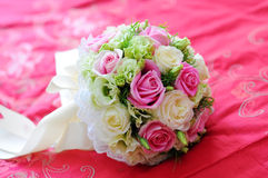 Wedding Flowers on the bed Stock Image